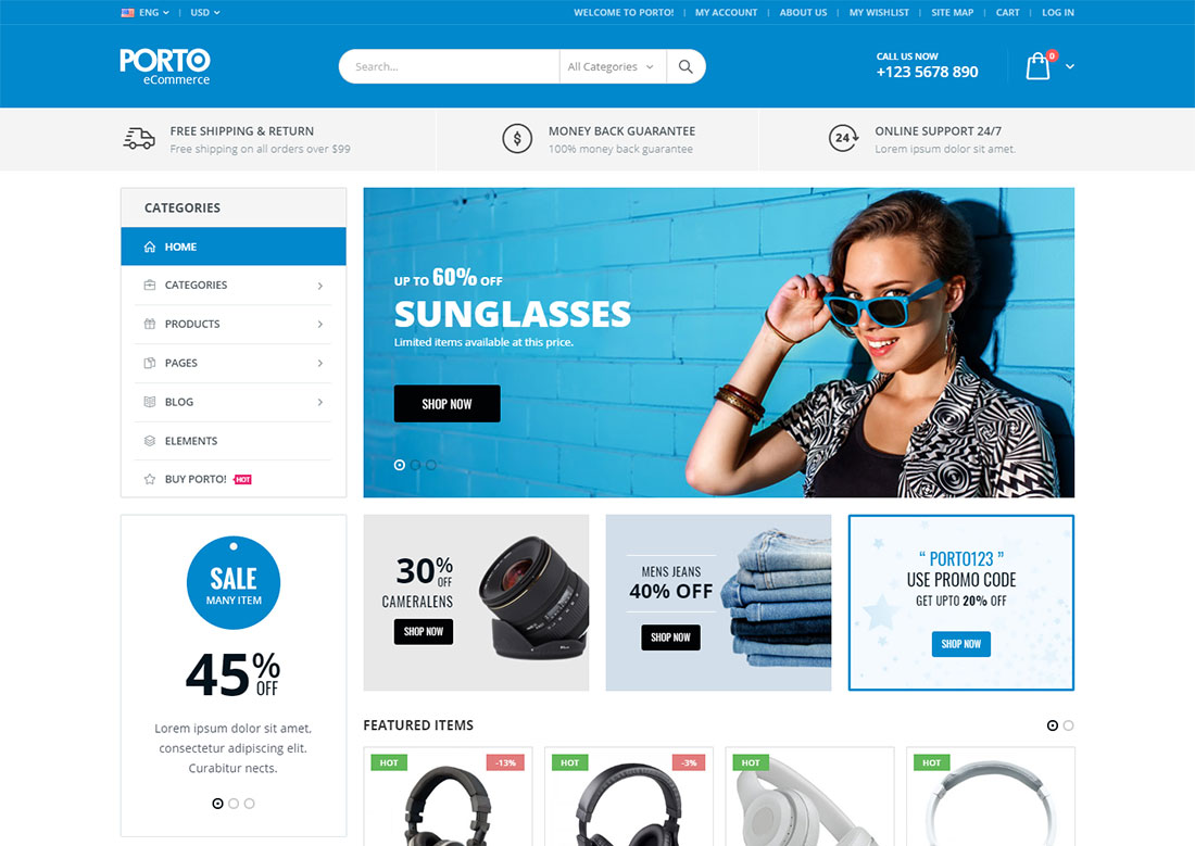porto mobile friendly ecommerce theme