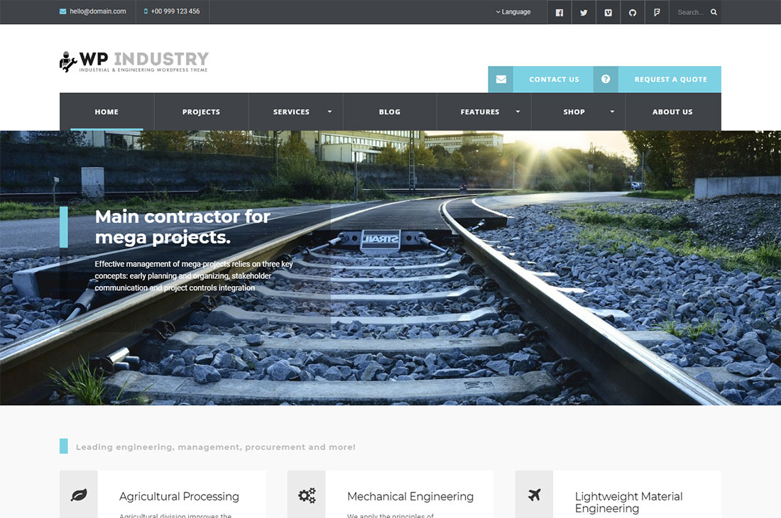 wp industry science wordpress theme