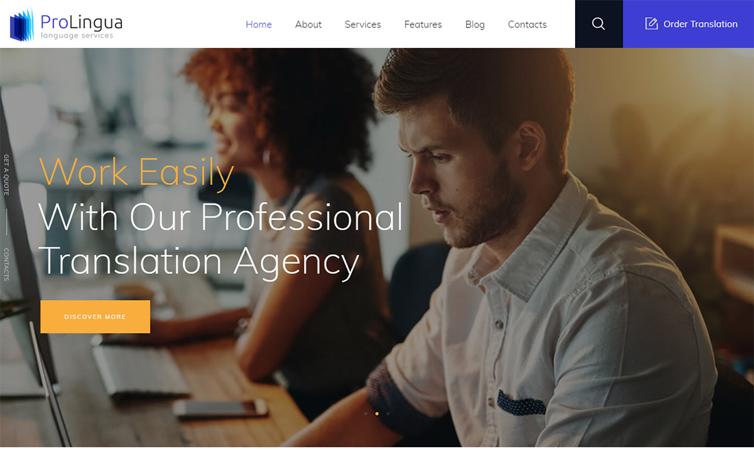 Prolingua Virtual Assistant Website Templates