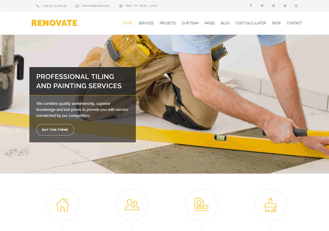Renovate WordPress Themes for Painters