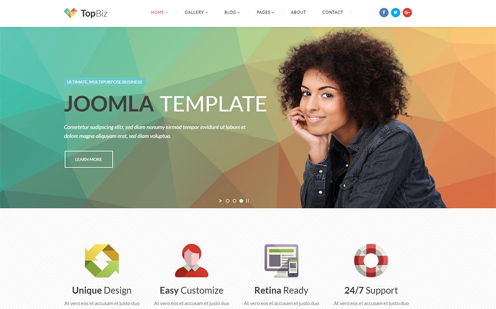 TopBiz - Responsive Corporate Joomla Template
