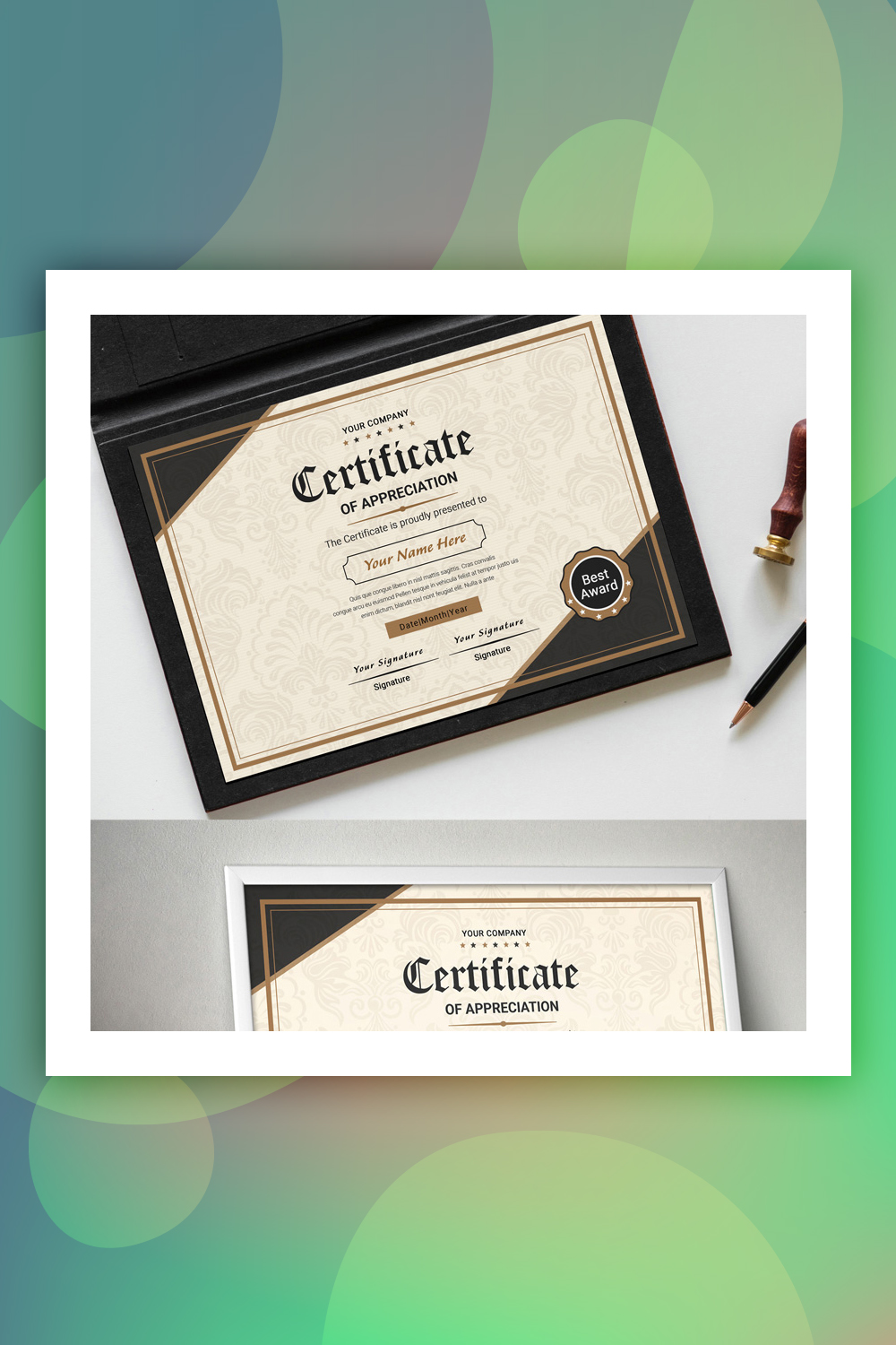 Classic Appreciation Certificate Template