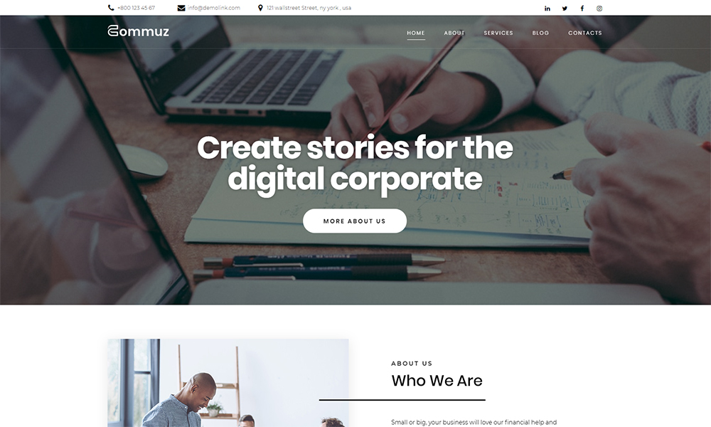Commuz - Business Multipurpose Modern Elementor WordPress Theme