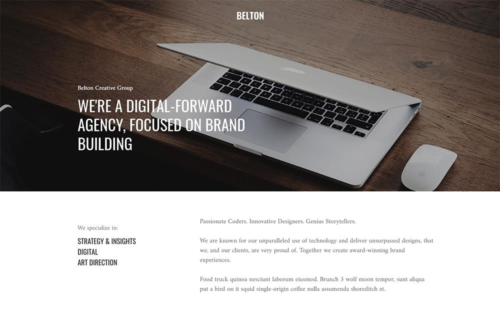 Belton - Minimal Black and White Multipurpose Joomla Template