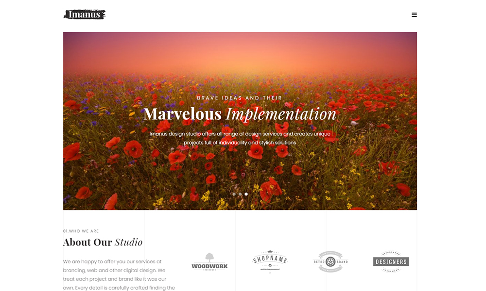 Imanus - Design Multipurpose Minimal Elementor WordPress Theme