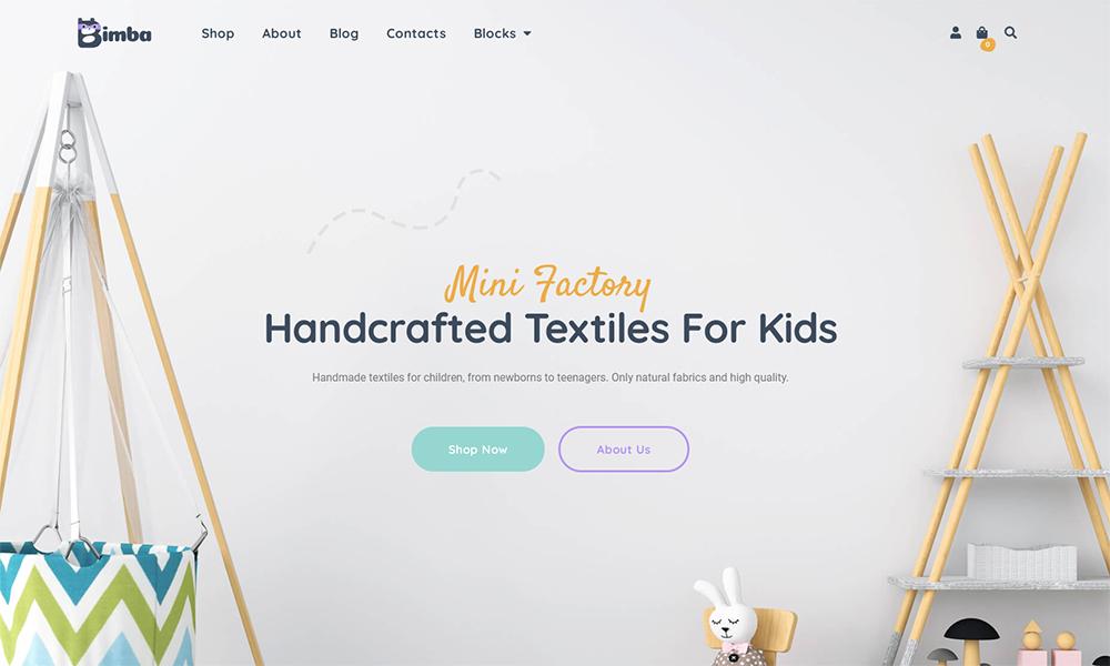 Bimbo - Craft & Handmade WooCommerce Theme