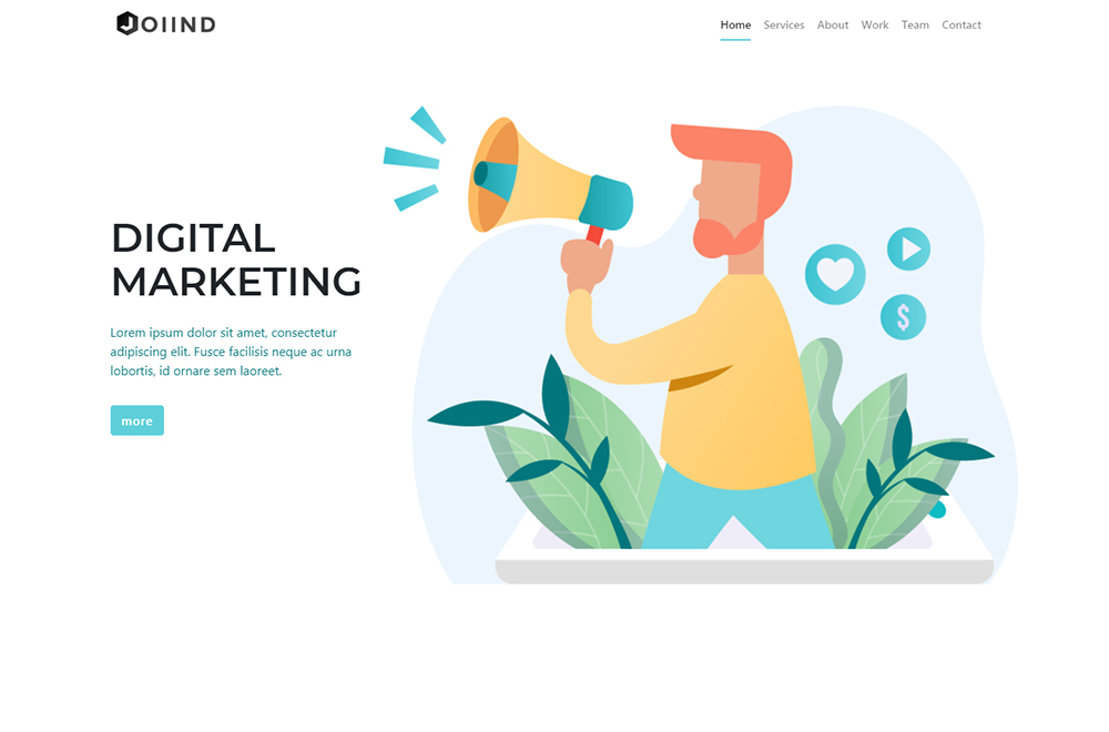 JOIIND - Multipurpose Modern Bootstrap Landing Page Template