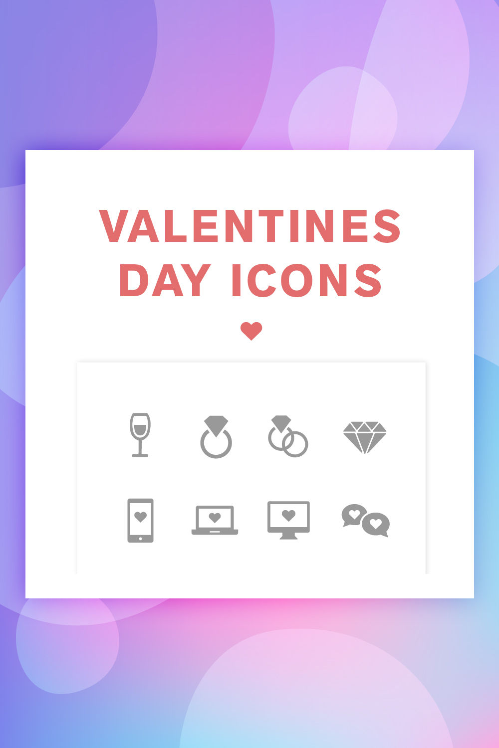 Valentine's Day Iconset Template