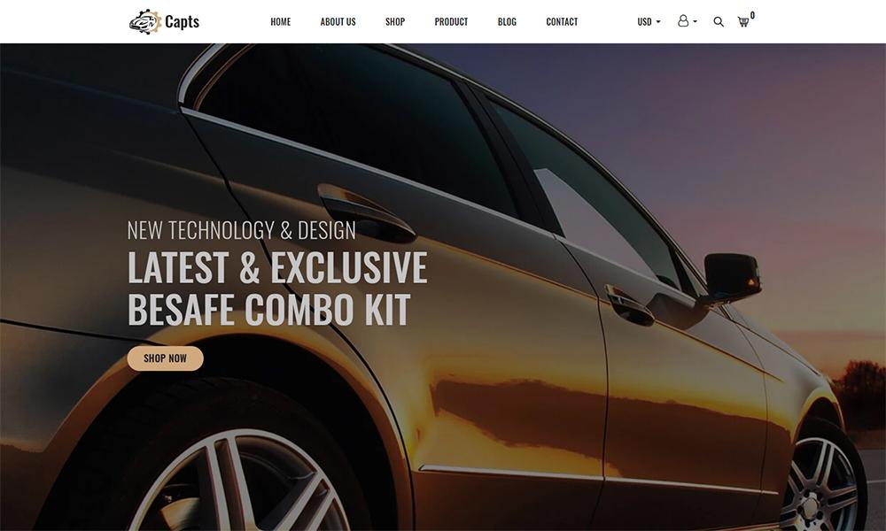 Capts - Auto Parts Responsive Shopify Theme