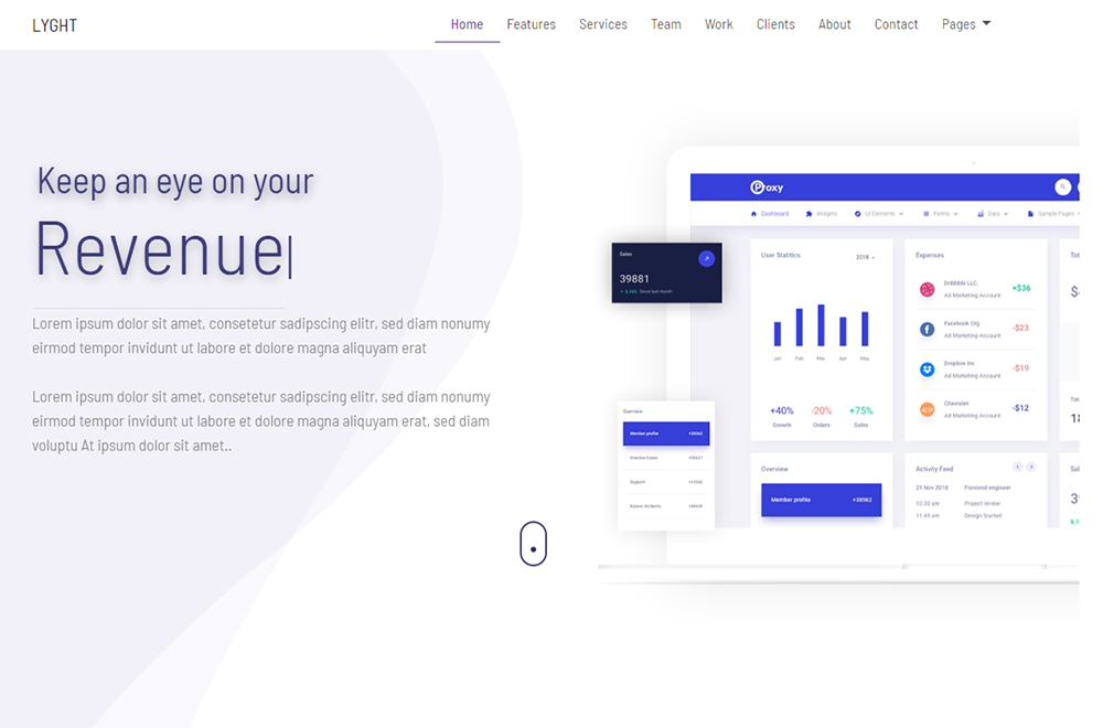 LYGHT - Multipurpose Bootstrap Landing Page Template
