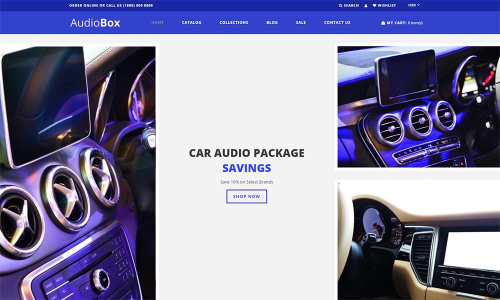 AudioBox - Car Audio E-Commerce Modern Shopify Theme