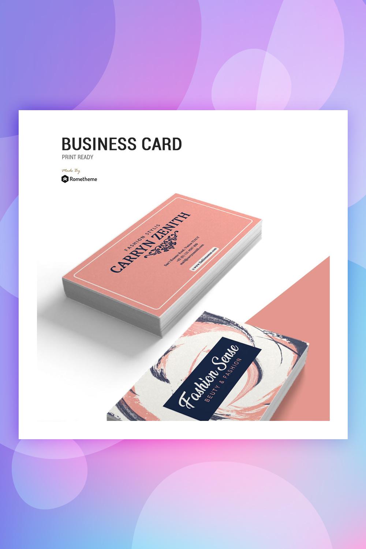 Fashion Sense - Business Card Corporate Identity Template