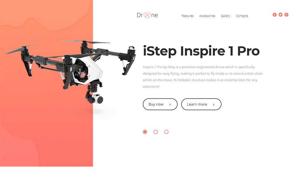 Drone HTML Template