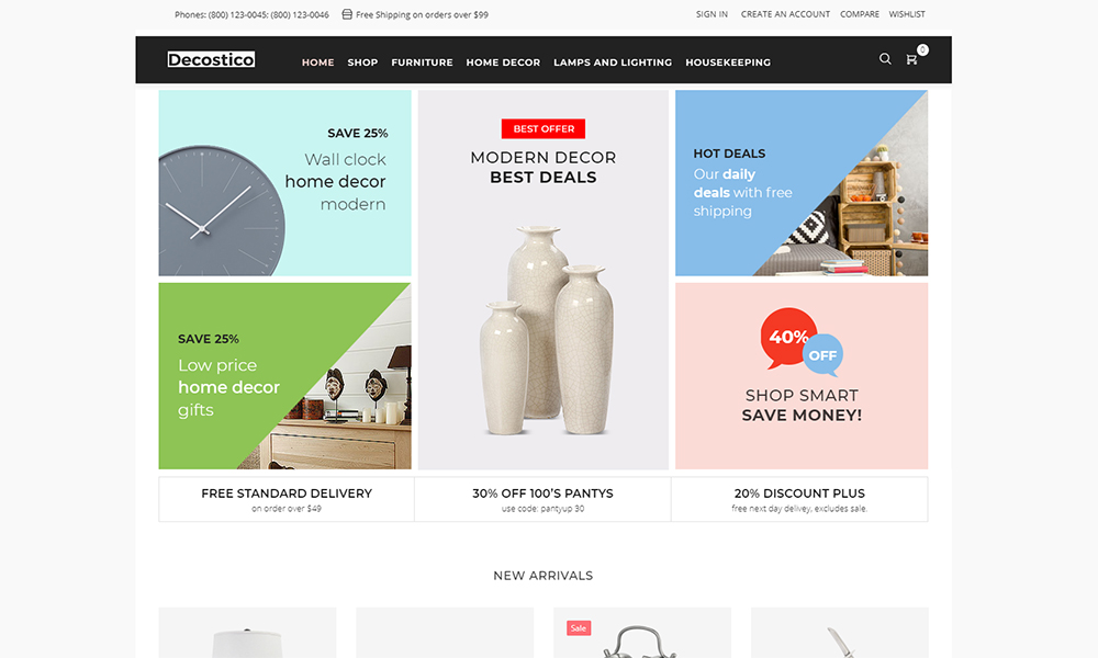 Decostico - Modern interior furniture Elementor WooCommerce Theme
