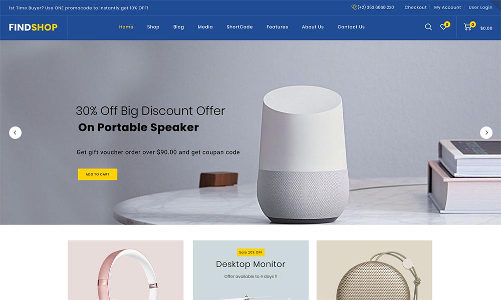 Findshop - Mega Store WooCommerce Theme target=