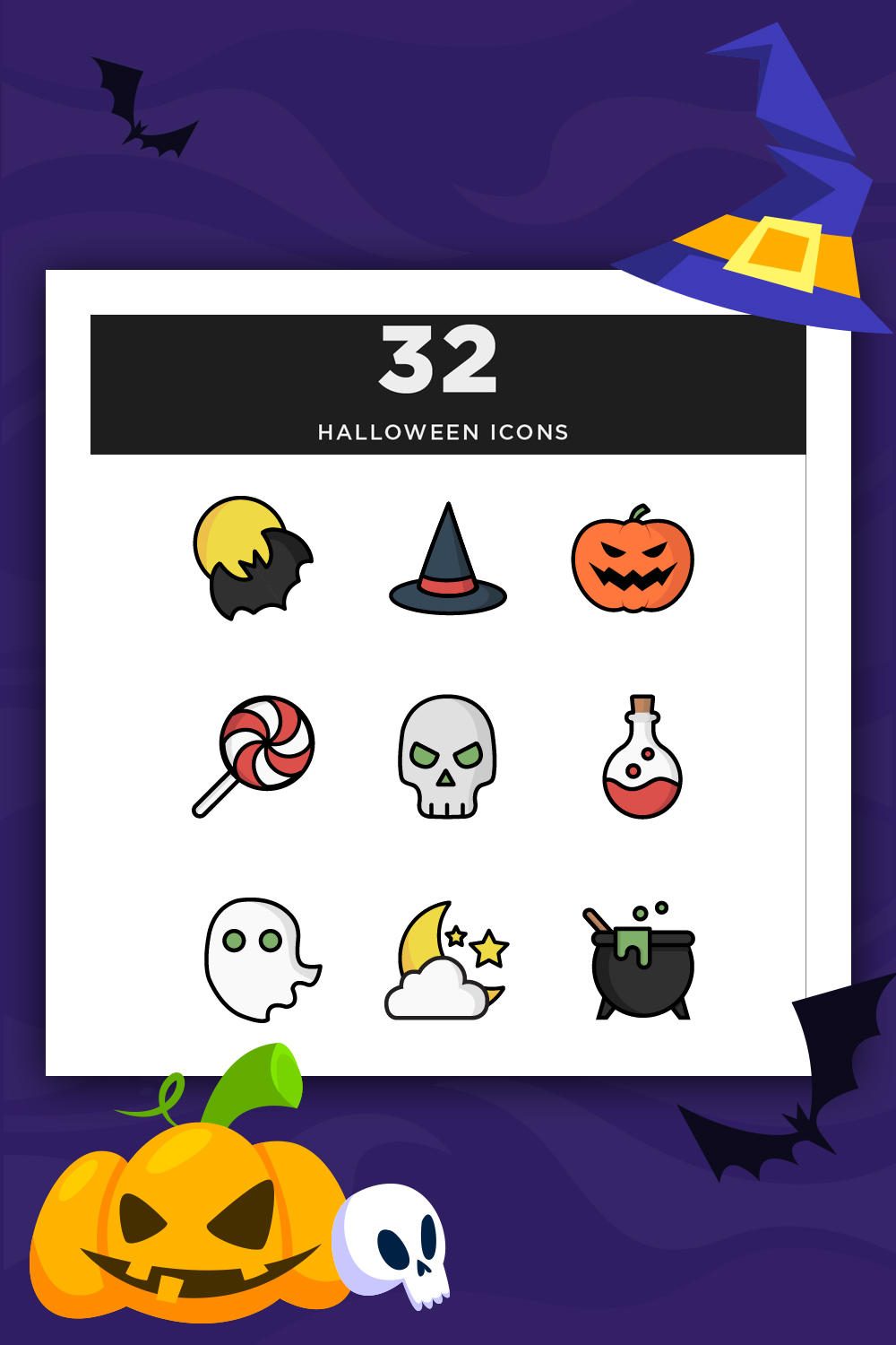 Illustrative Halloween Iconset Template