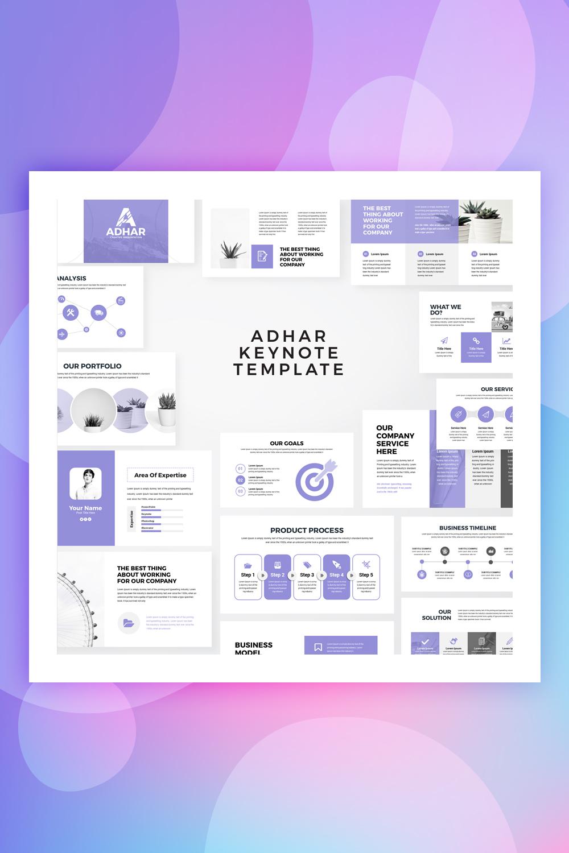 Adhar - Modern Minimal Keynote Template