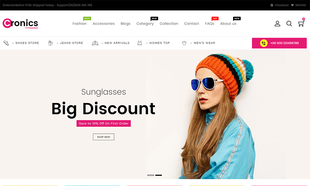 Cronics Fashion Responsive Shopify Theme