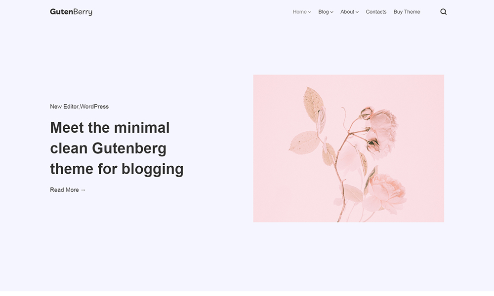 Gutenberry - Gutenberg-based Clean Blog WordPress Theme