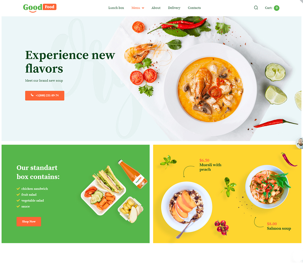 GoodFood - Stylish Organic Food Template WooCommerce Theme