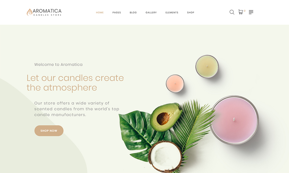Aromatica Candle Website Template