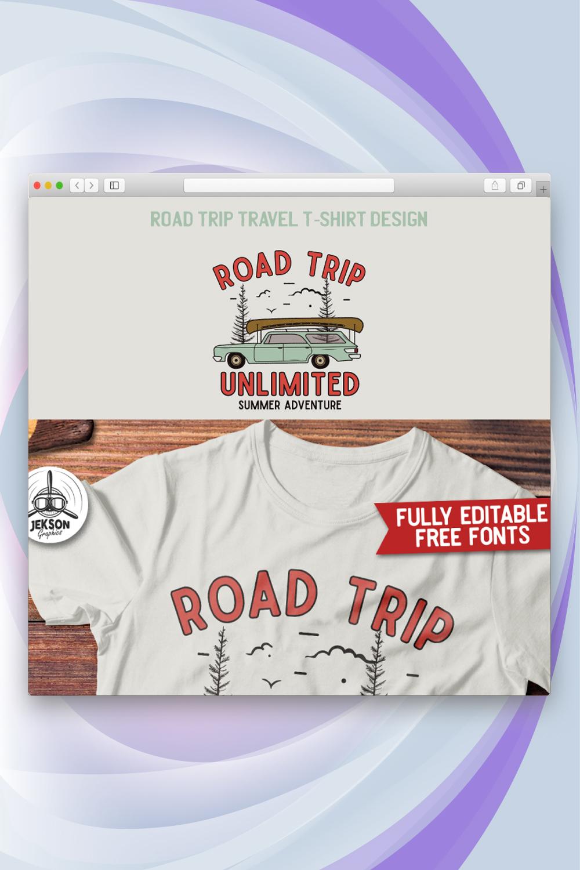 Road Trip Travel Design T-shirt