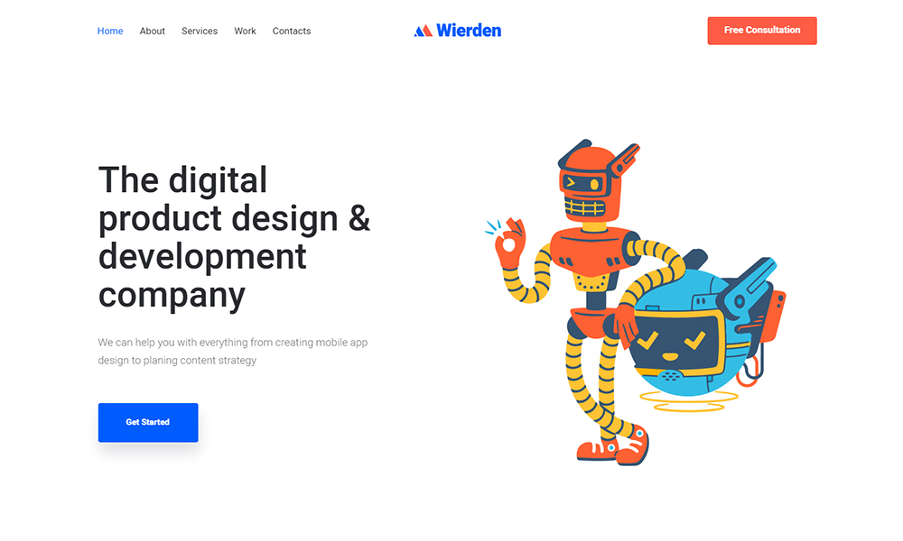 Wierden - Minimalistic And Modern Digital Product WordPress Theme