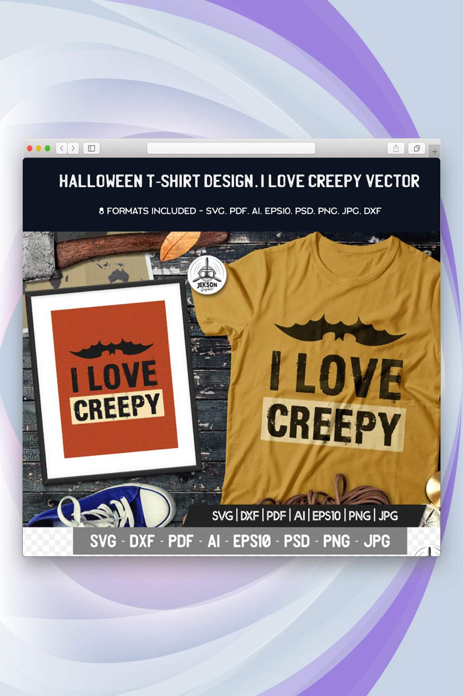 I Love Creepy Halloween T-shirt