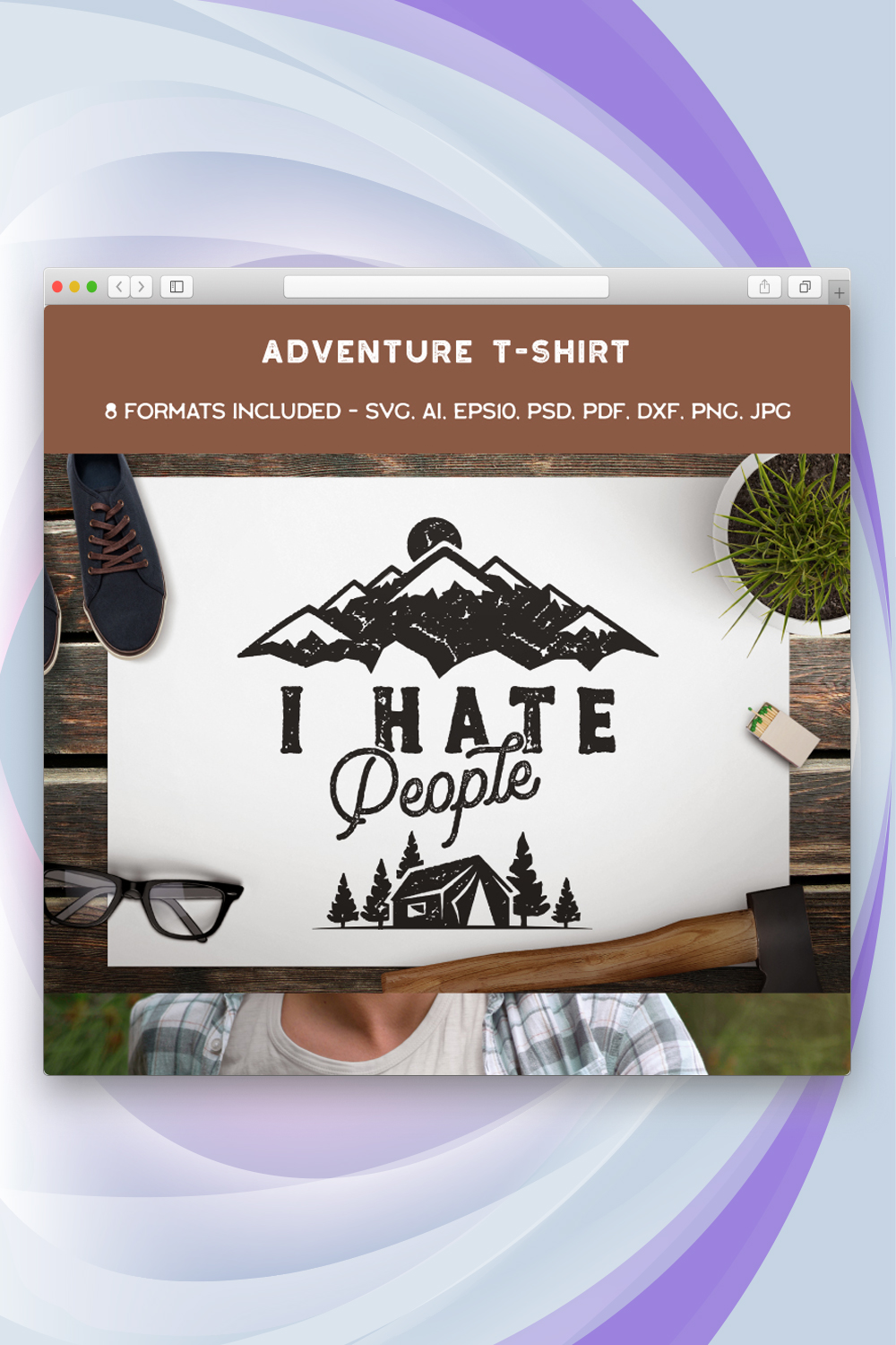 Mountain Conqueror, I Hate People T-shirt