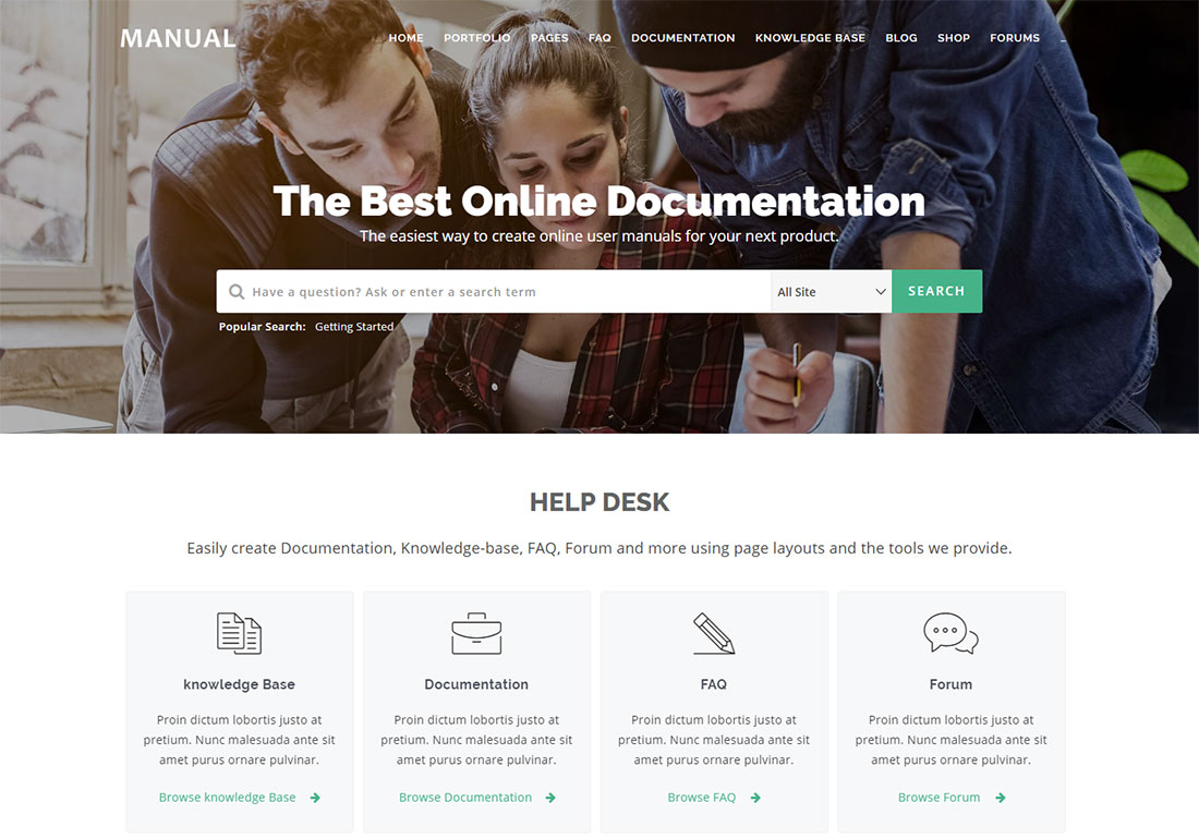 iKnowledge WordPress wiki theme