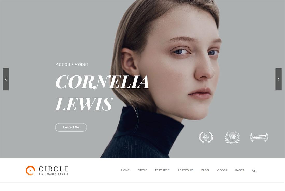 Circle Actor Website Template