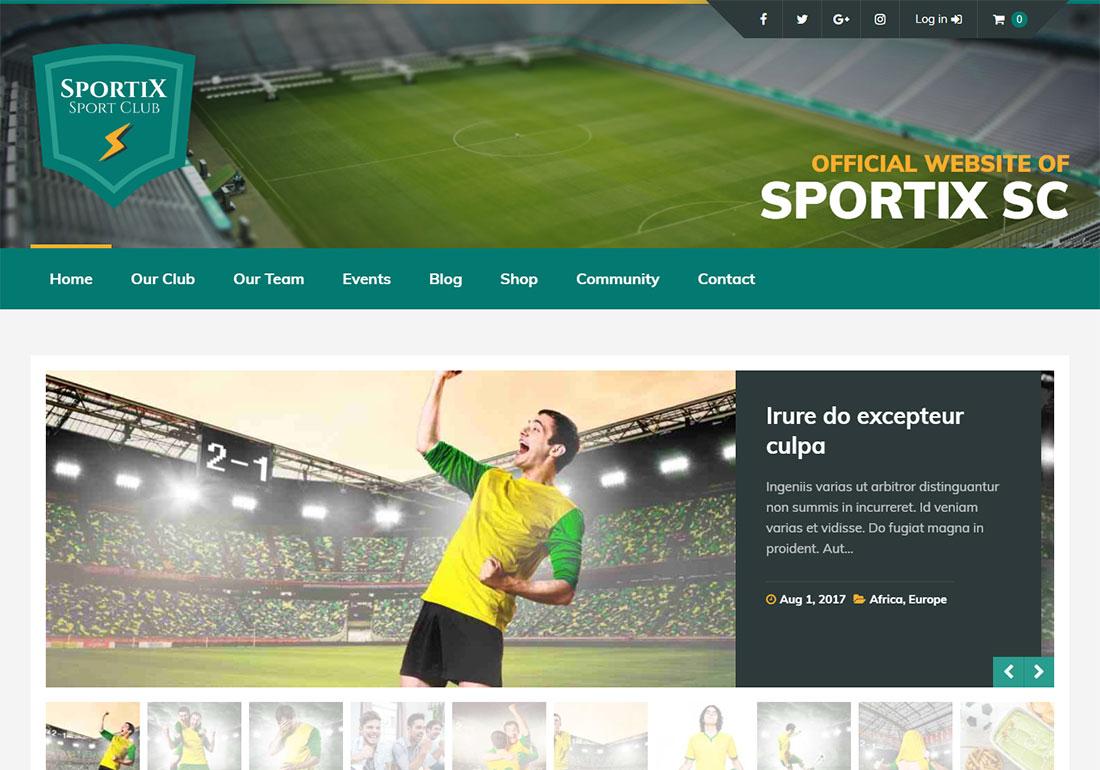 Sportix baseball WordPress theme