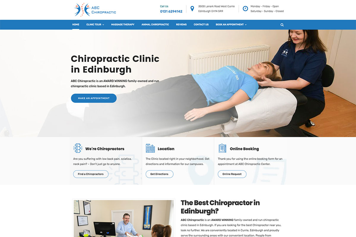 ABC Chiropractic website design