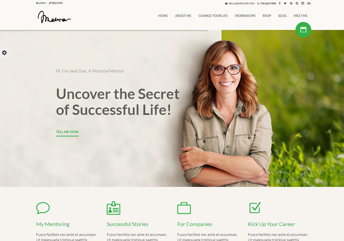 Mentor WordPress Theme