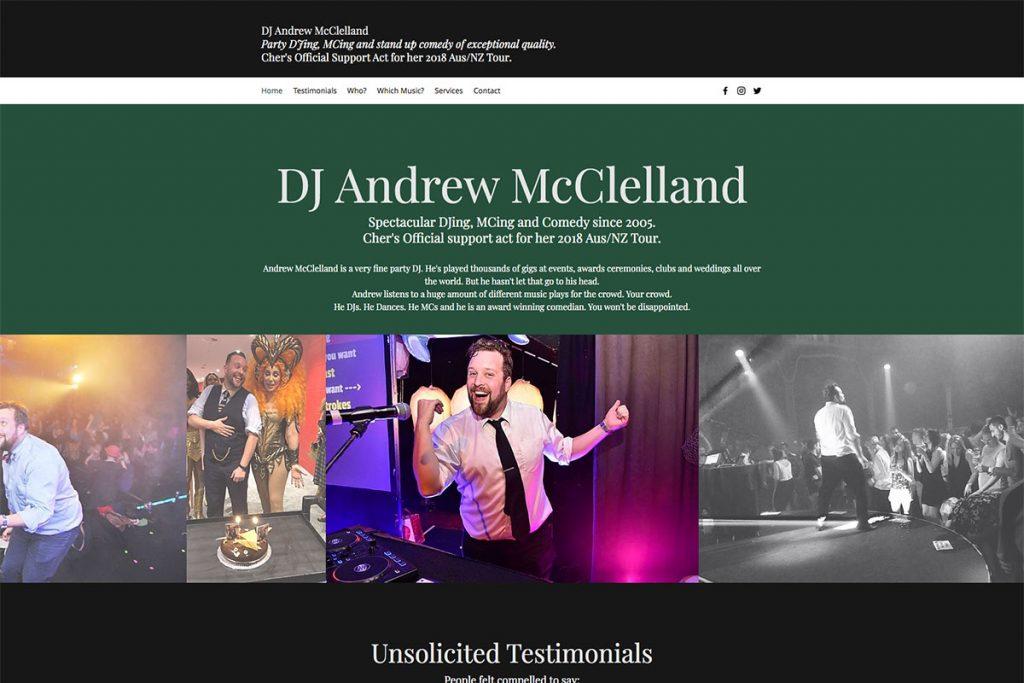 DJ Andrew McClelland