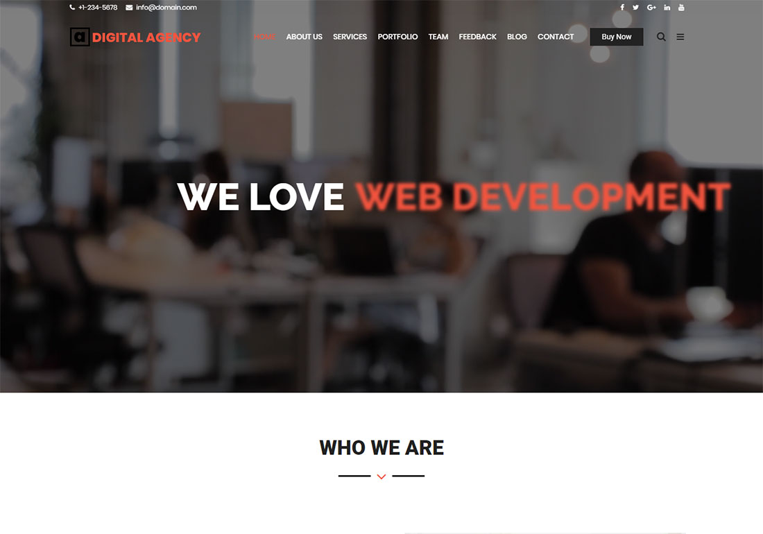 Avas digital agency WordPress theme
