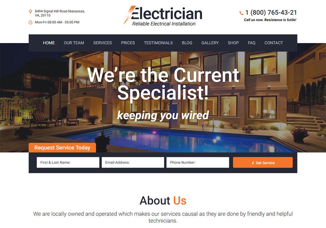 Electrician - WordPress