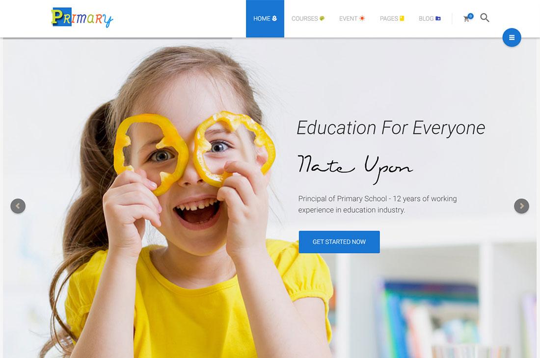 primary elementary school WordPress theme