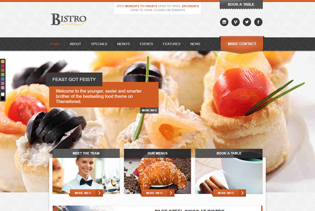 Bistro Food Truck WordPress Theme