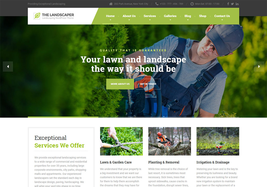 The Landscaper Landscaping Website Template
