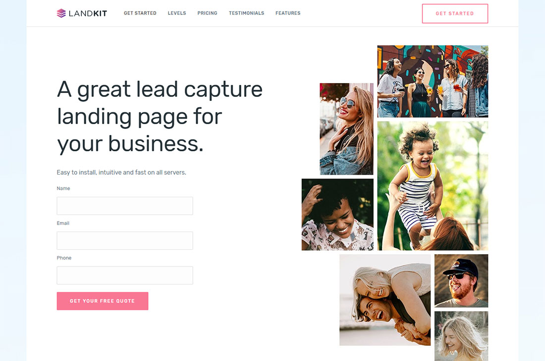 Landkit Lead Generation WordPress Theme