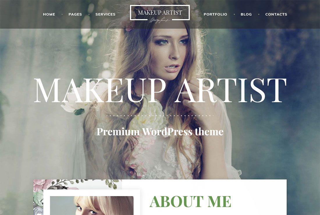 makeup artist pro makeup artist wordpress theme