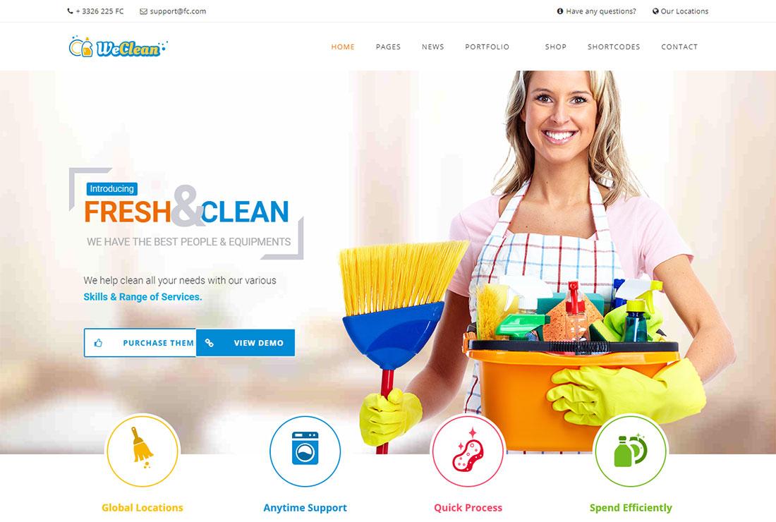 We Clean Pest Control WordPress Theme