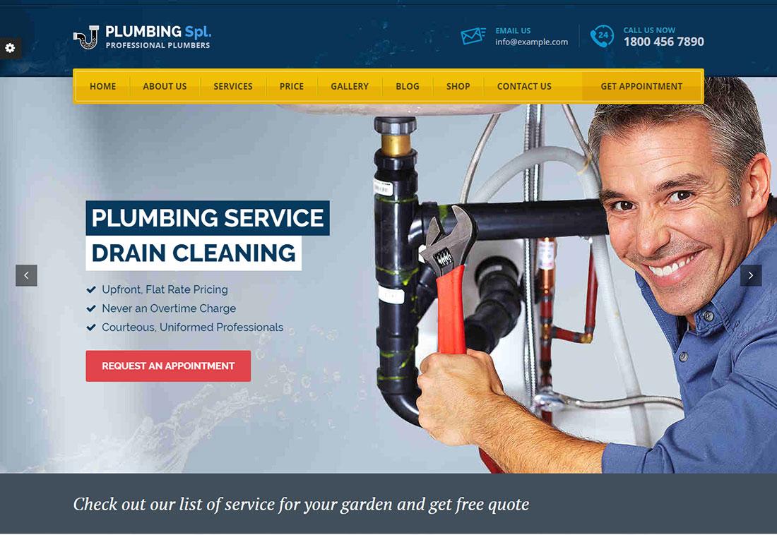 Plumbing SPL Plumber WordPress Theme