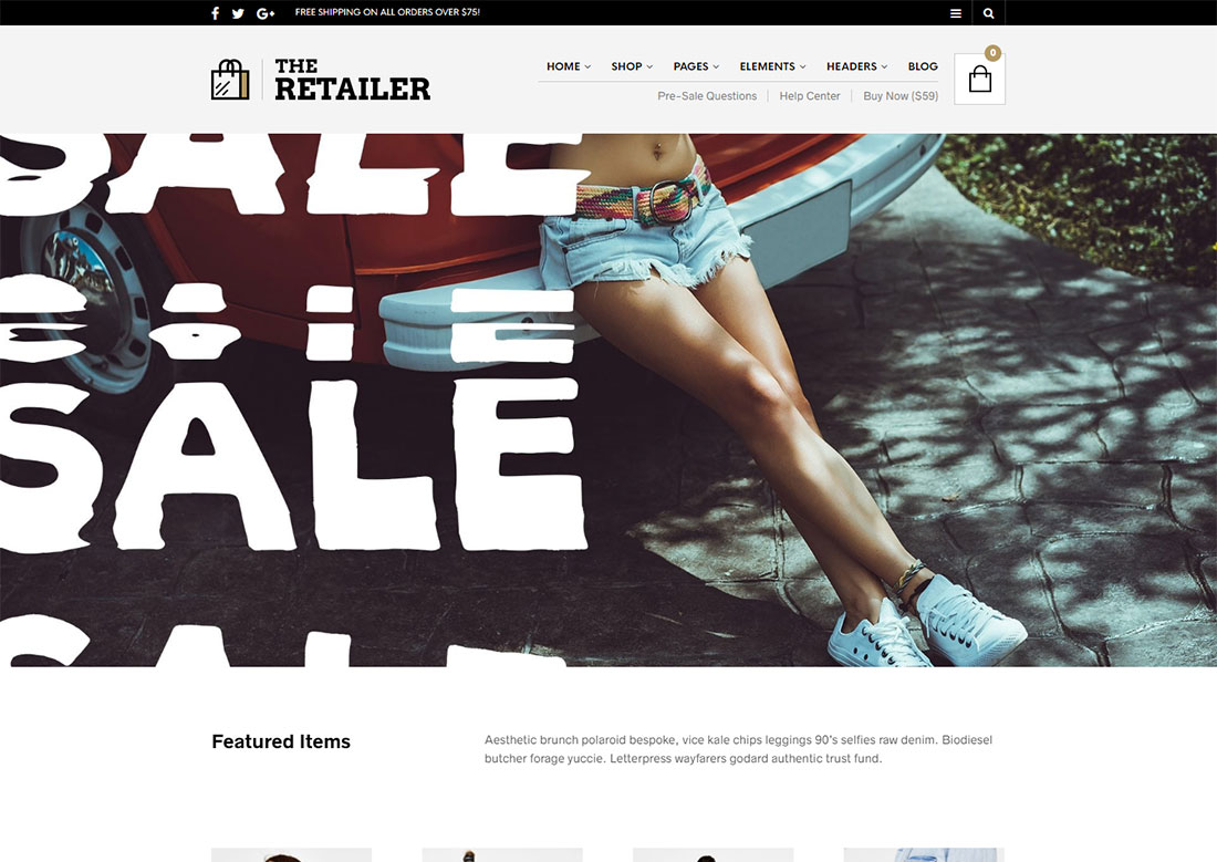the retailer mobile friendly ecommerce theme