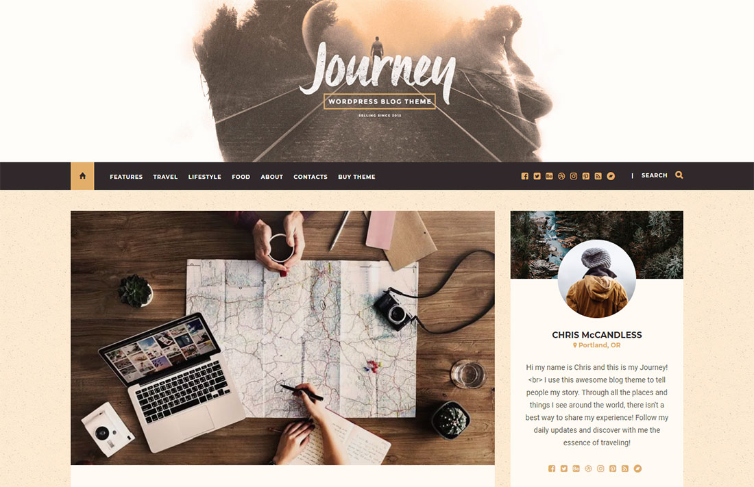 journey travel magazine theme
