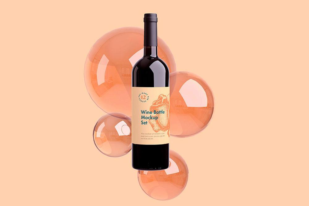 wine bottle mockups