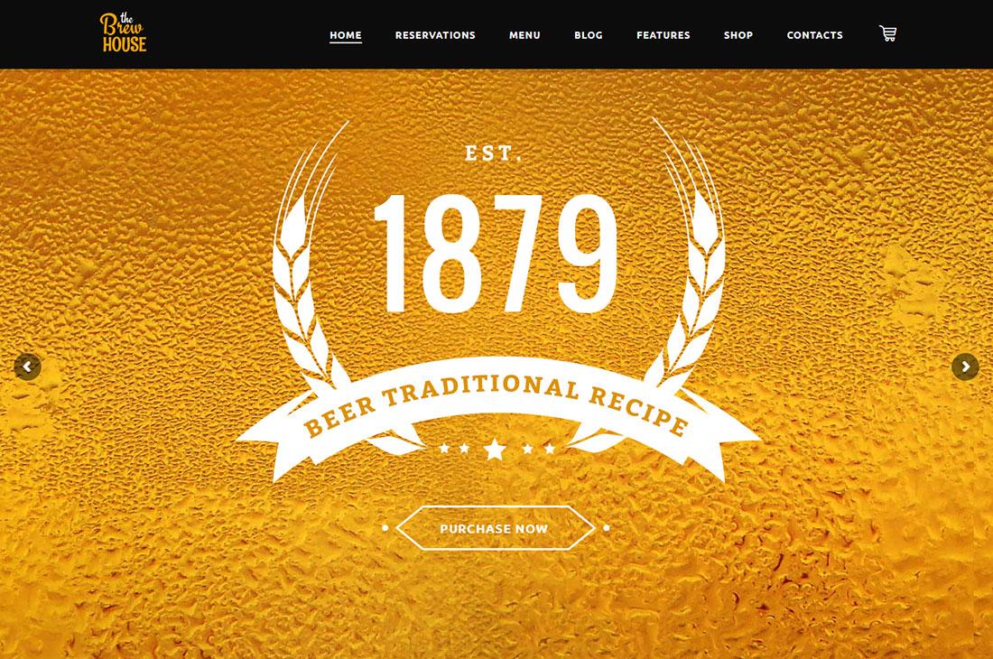 the brew house wine shop WordPress theme