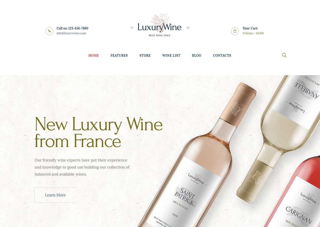 Luxury Wine