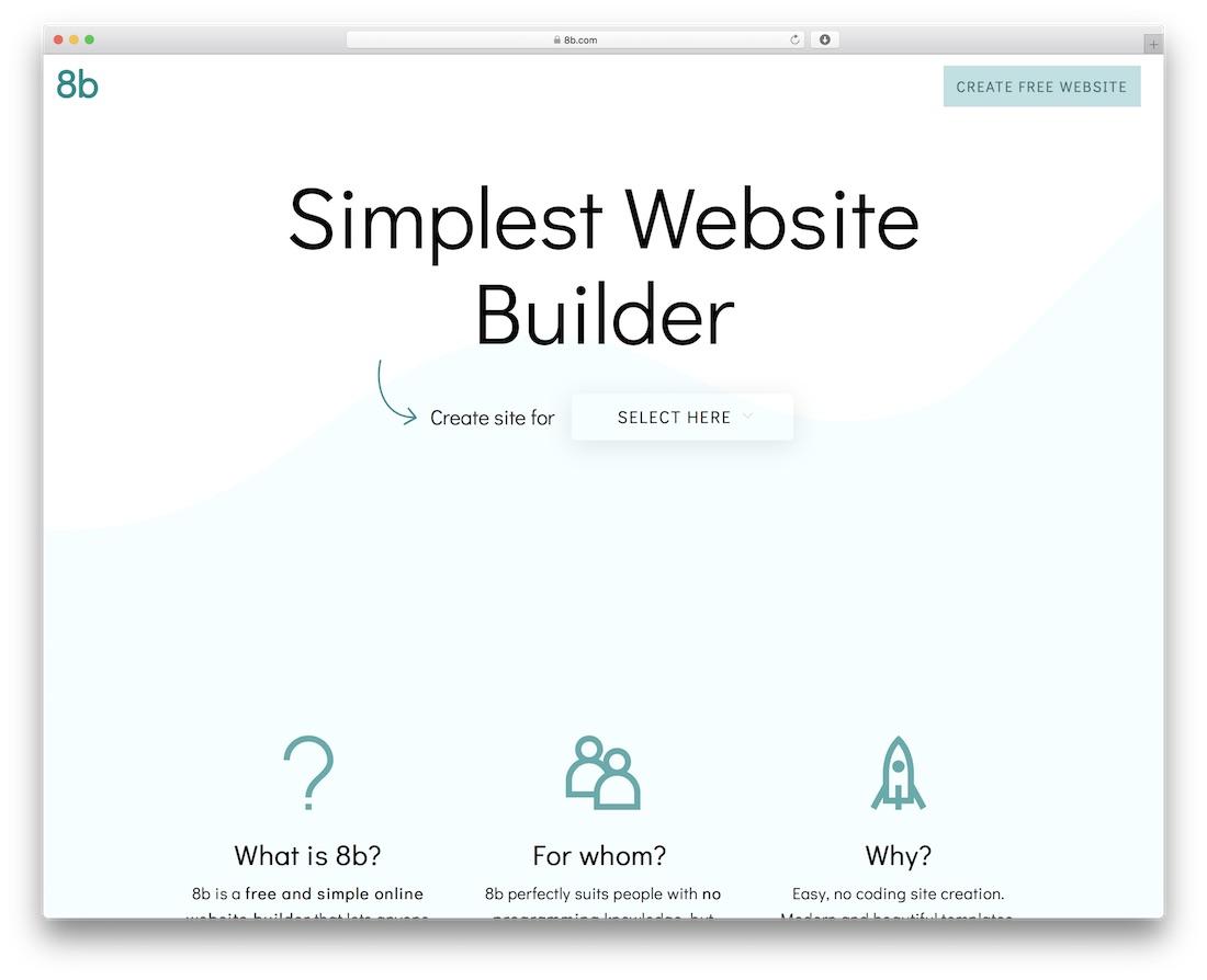 8b beginner website builder